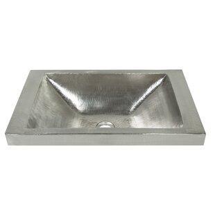 Hana Metal Rectangular Drop-In Bathroom Sink by Native Trails, Inc.