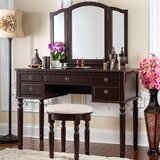 Falke Dressing Vanity Set with Mirror by Darby Home Co