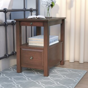 Lowellville End Table With Storage by Alcott Hill