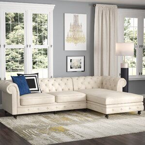 Albertina Chesterfield Sectional by Willa Arlo Interiors
