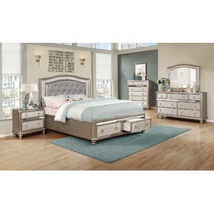Hackmore Upholstered Storage Panel Bed