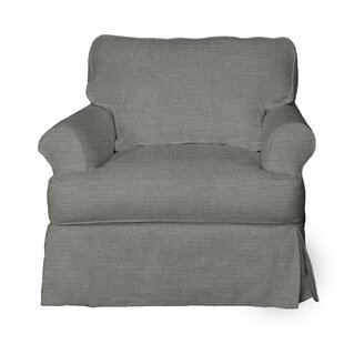 Rundle T-Cushion Armchair Slipcover By Beachcrest Home