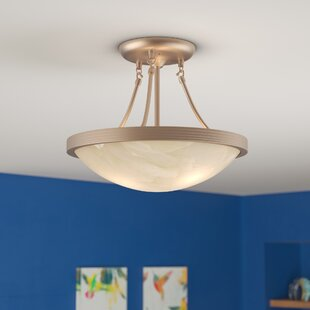 Treadaway 3-Light Semi Flush Mount by Latitude Run
