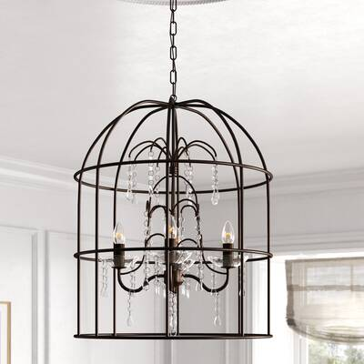 Orren Ellis Manneville 12 Light Shaded Tiered Led Chandelier Wayfair