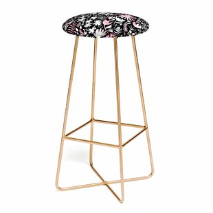 Ninola Design Winter Ink Flowers 25 Bar Stool
