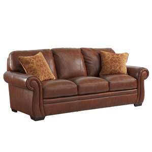 Gypsum Leather Sofa by Loo..