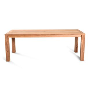 Hodges Solid Wood Dining Table by Rosecliff Heights