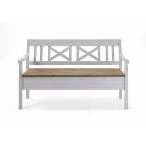 3-Sitzer Garderobenbank Fjord mit Stauraum aus Holz von dCor design
