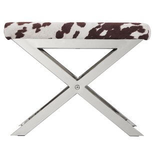 Wildcat Hills Cow Hide Print Vanity Stool
