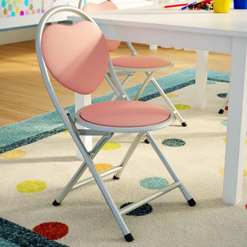 Metal Folding Kids Desk Chair