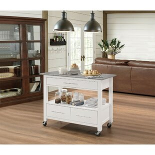 Krumm Kitchen Cart With Stainless Steel Top