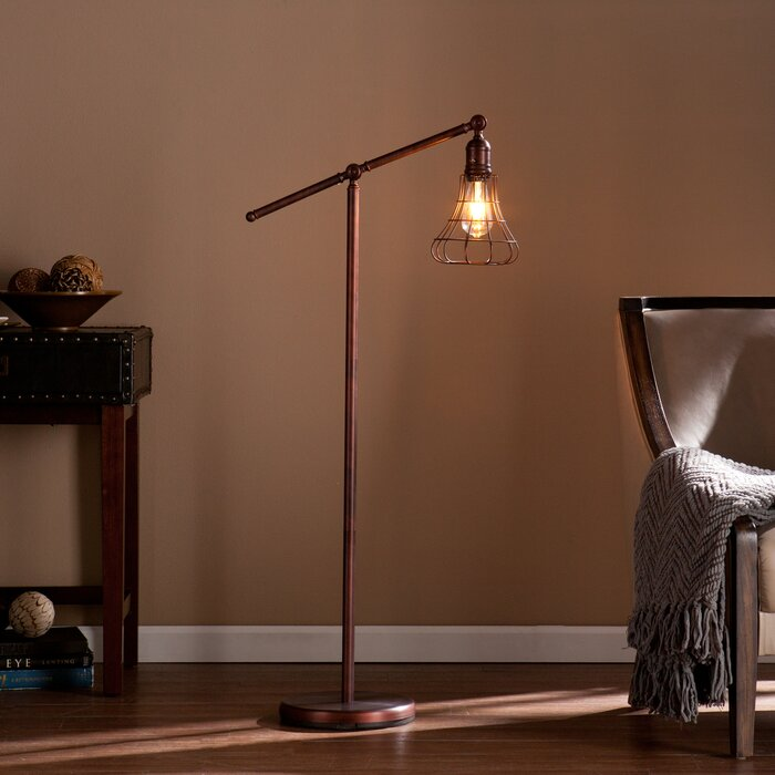 Trent austin design hill 52 led task floor lamp reviews wayfair hill 52 led task floor lamp mozeypictures Images