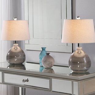 Affordable Price Eltingville 18 Table Lamp (Set of 2) By Bungalow Rose