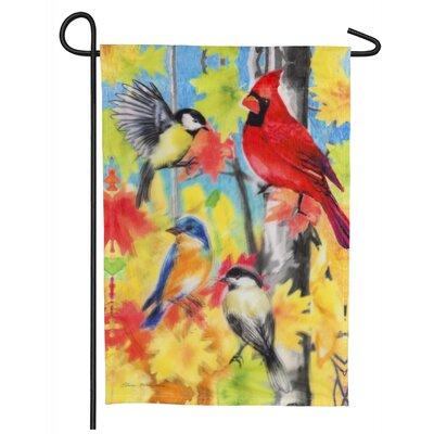 Watercolor Birds Organza 2-Sided Polyester 1.5 x 1.04 ft. Garden Flag Evergreen Flag & Garden