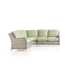 South Sea Rattan Cape Lookout Patio Sectional With Cushions