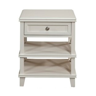 Lopiccolo Mahogany Wood 1 Drawer Nightstand by Rosecliff Heights