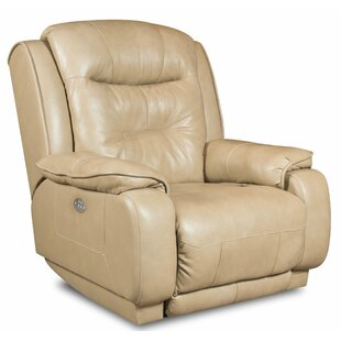 Crescent Leather Manual Recliner by Southern Motion