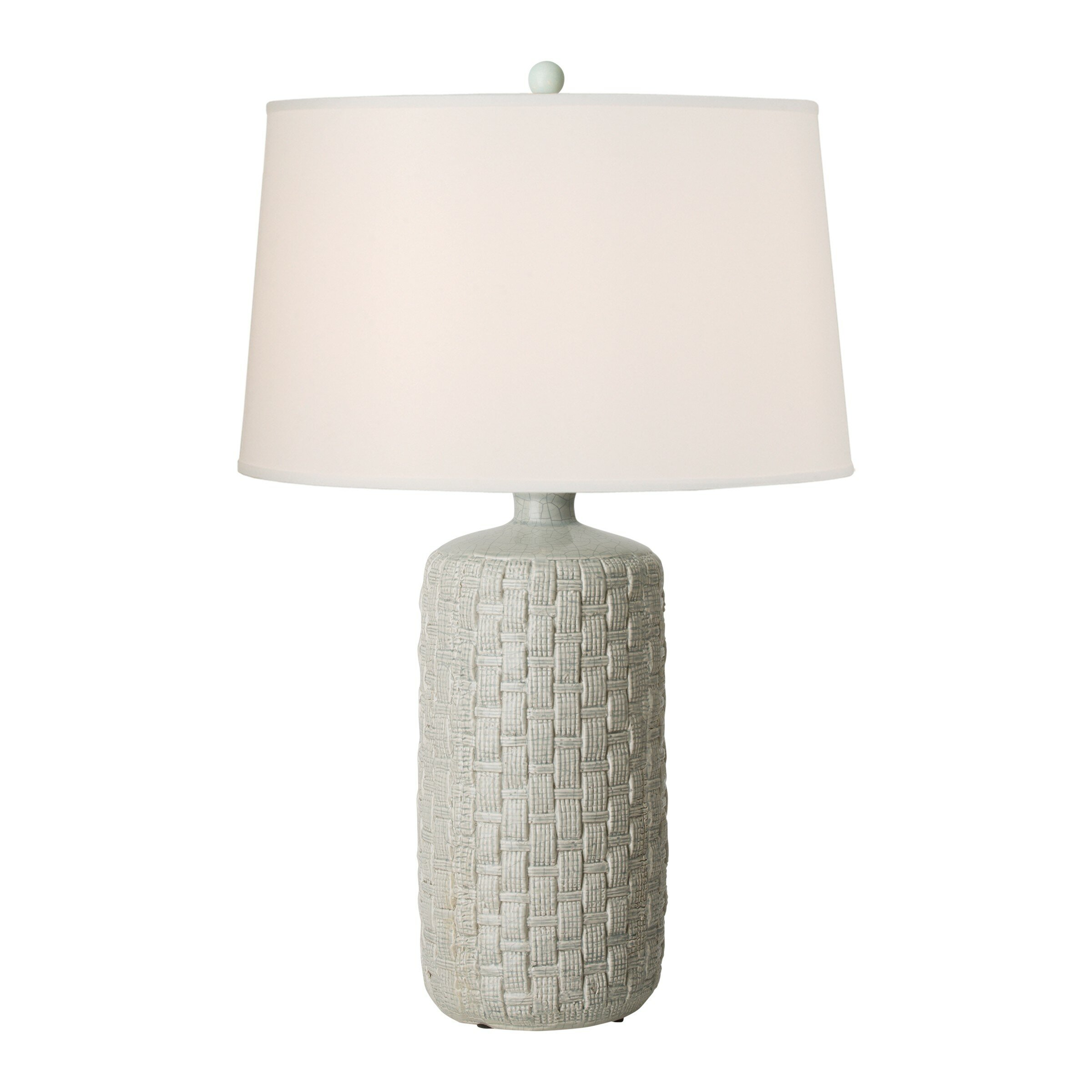 Rosecliff Heights Loyce Round Woven 32 Table Lamp Wayfair