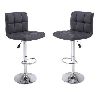 Vogue Furniture Direct Adjustable Height Bar Stool (Set of 2)