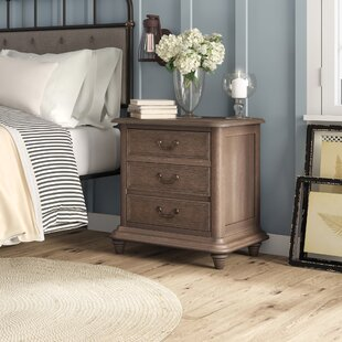 Calila 2  Drawer Nightstand in Rustic Natural Tone by Foundry Select