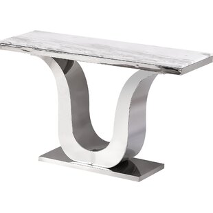 Everly Quinn Manningtree Marble Console T..