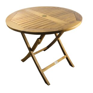 Gavyn Folding Teak Bistro Table