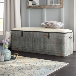 August Grove Dublin Upholstered Storage Bench
