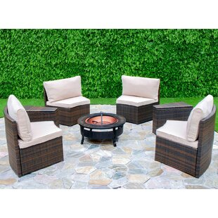 Lorelai 6 Piece Conversation Set with Cushions