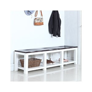 Wood Storage Bench by Hives and Honey