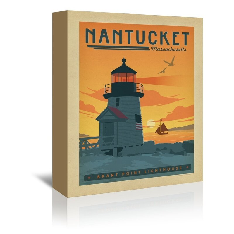 East Urban Home Nantucket Vintage Advertisement On Wrapped Canvas Wayfair