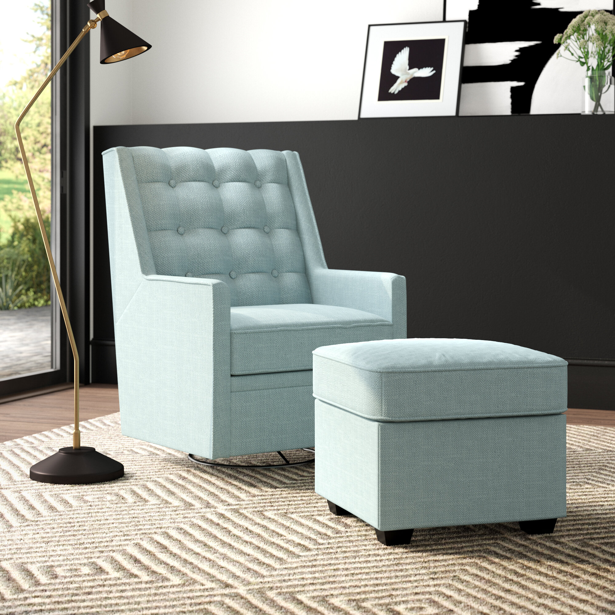 Phenomenal West Hill Swivel Glider And Ottoman Pabps2019 Chair Design Images Pabps2019Com