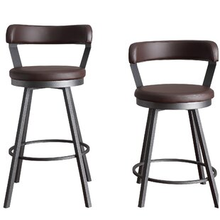 Settle 24 Swivel Bar Stool (Set of 2) Williston Forge