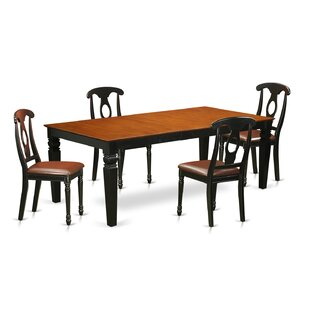 Beesley 5 Piece Black/Cherry Dining Set b..