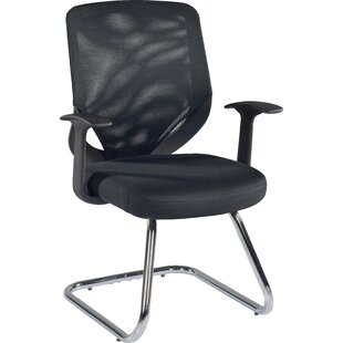 Black Mesh Visitor Chair By Symple Stuff
