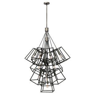 Fulton 13-Light Geometric Chandelier by Hinkley Lighting