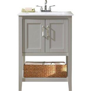 Modern Inch Bathroom Vanities AllModern - 24 bathroom vanity with drawers