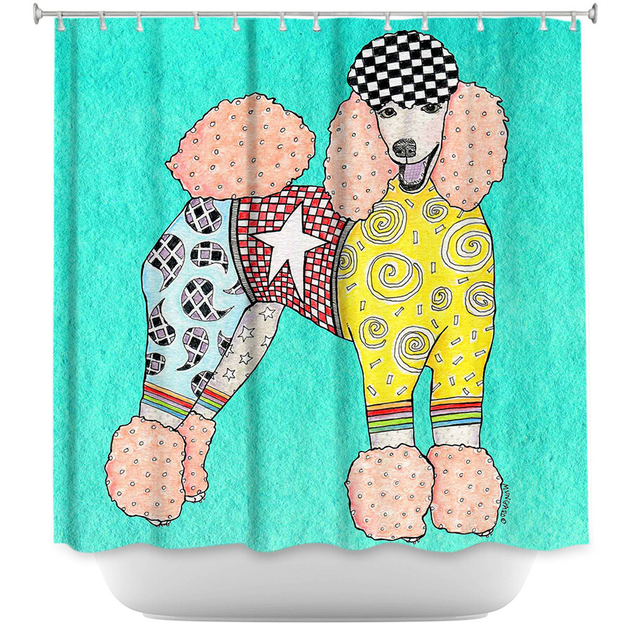 East Urban Home Poodle Dog Shower Curtain