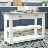 Maglione Kitchen Cart Stainless Steel by Charlton Home®