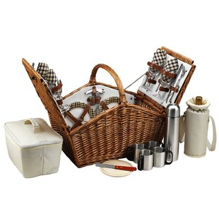 Huntsman Basket for Four with Coffee Service in London