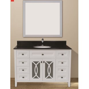 Margaret Garden 49 Single Bathroom Vanity Set with Mirror by NGY Stone & Cabinet