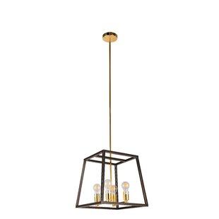 Wrought Studio Dorado 4-Light Square/Rectangle Pendant