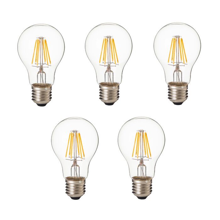 8W E26/Medium Standard LED Vintage Filament Light Bulb