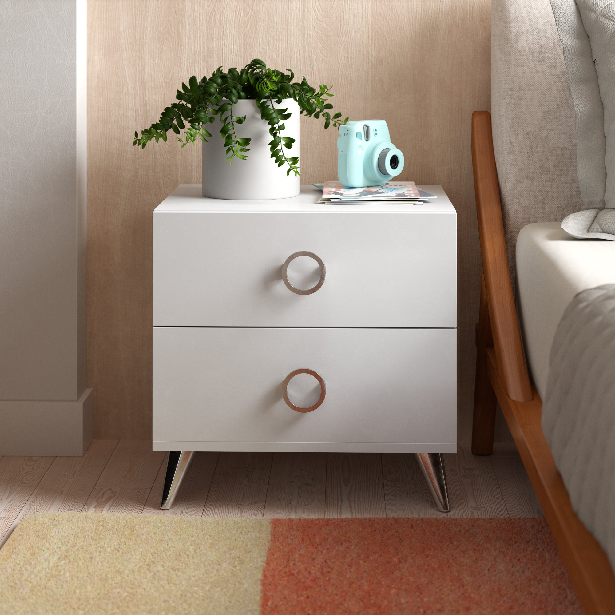 Claire 2 Drawer Nightstand Reviews Allmodern