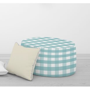GINGHAM DREAM Pouf By Kavka Designs by Gracie Oaks