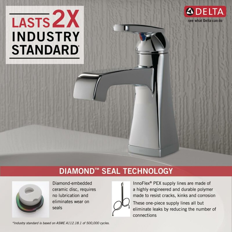 Delta Ashlyn Single hole Bathroom Faucet with Drain Assembly and ...