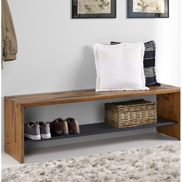 Reclaimed Solid Wood Sideboard Storage Bench: Loon Peak Arocho Rustic Solid Reclaimed Wood Storage Bench