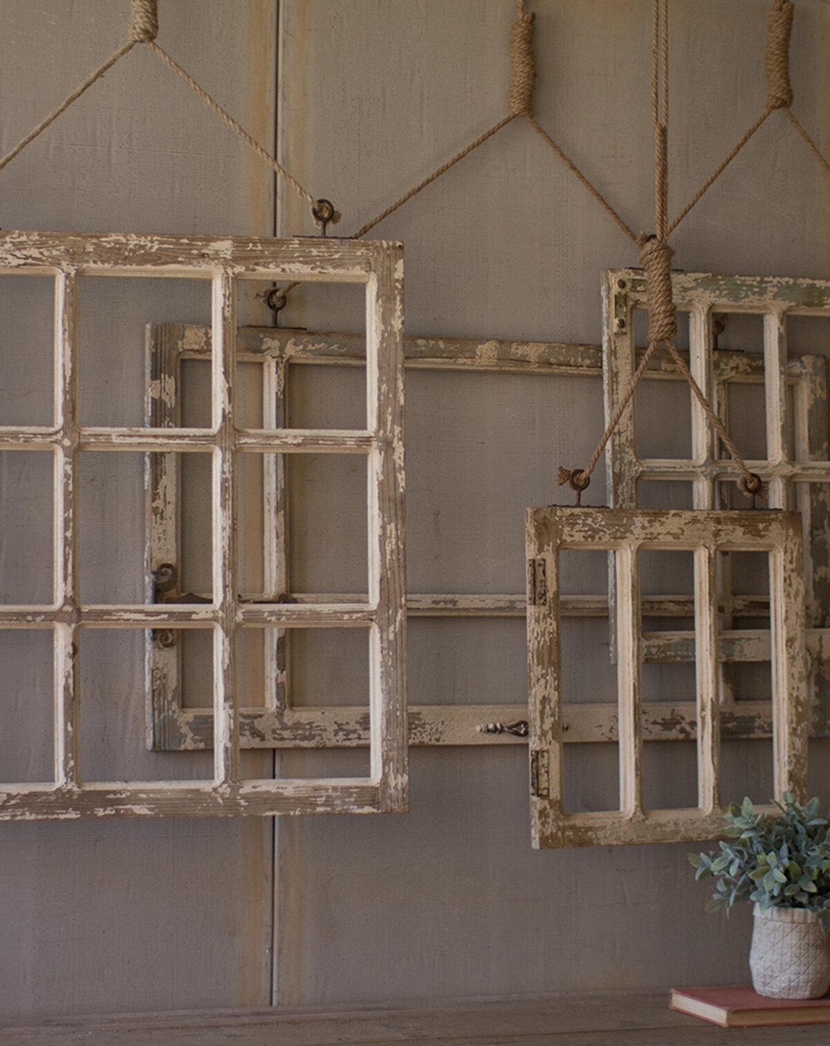 August Grove 4 Piece Window Frame Wall Decor Set Reviews Wayfair