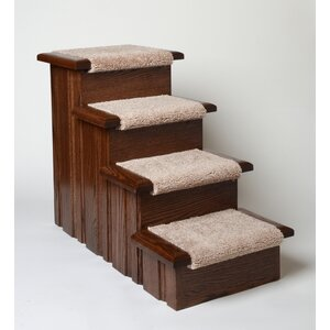 Raised Panel 4 Step Pet Stair