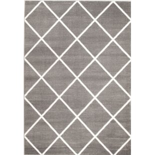 Low priced Bott Gray/White Area Rug By Wrought Studio