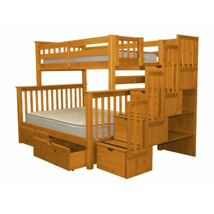 Tena Twin Over Full Bed with Drawers ByHarriet Bee